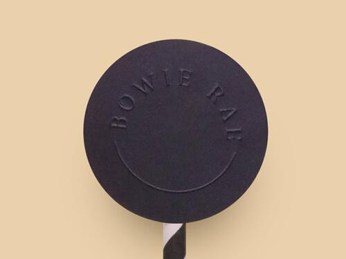 Black sticker