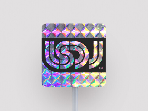 Patterned hologram stickers