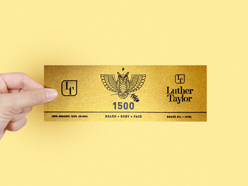 Luxury sticker