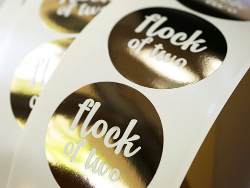 Foil Stickers & Labels NYC | Gold & Silver Foil Stickers USA
